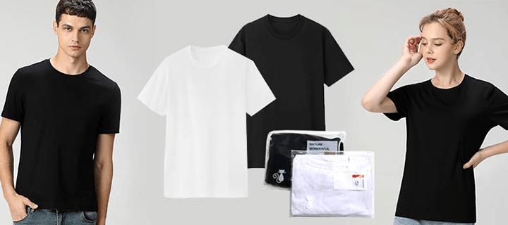 [개별포장] 100% 면 반팔 티셔츠