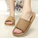 등나무 간지 슬리퍼 여성 남성 여름 실내화 샌들 신발