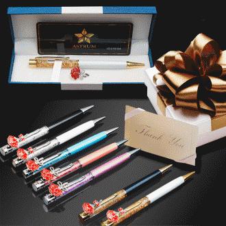 카네이션 볼펜 어버이날 스승의날 선물 브로치 금장미 생일선물 성년의날 선물 발렌타인데이 연인