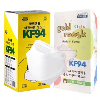 국산 KF94마스크 소형 1매입 개별포장 초등학생 100%국내산 어린이마스크 KF94 비말차단
