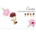 [DY커머스]핑크골드 카네이션 브로치 카네이션꽃