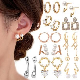 [은침]인기 귀걸이 200종 모음전 실버92.5 링 롱드롭 큐빅 진주귀걸이 세트귀걸이