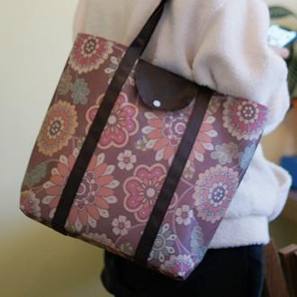 장바구니/에코백 시장바구니 시장가방 에코가방 가방 부직포 멀티플라워 폴딩백 마켓백 시리즈(여우창