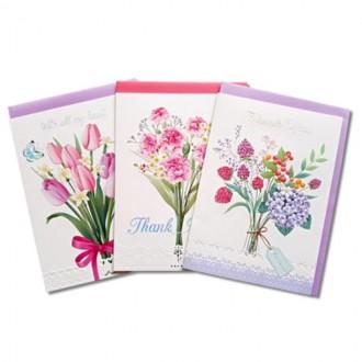 카드 1500카드 안개나라 러브 플라워카드 A 생일카드