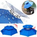 [히트템] 더블 핸즈프리 모자우산 2단우양산 양산 우양산