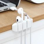 USB 스마트폰 전선정리 간편부착 4단 케이블 클립홀더