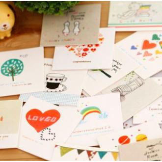 [ABC18255]편지카드/기념카드/감사카드/선물