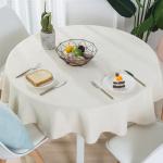 2인용 4인용 린넨 원형 테이블보 패브릭 식탁보
