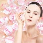 [바로배송] 압축 마스크팩 시트 100개 / 천연목화솜 100%코튼 캔디형 개별포장 얼굴팩