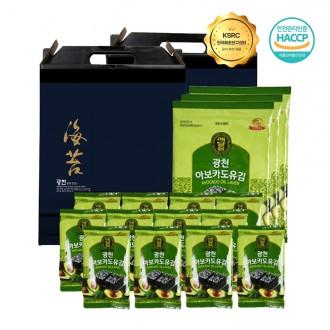 광천 아보카도유 도시락김 고급 선물세트 실속형 명절선물세트 4종