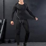 트레이닝세트 남자헬스복 긴팔이너웨어 남성레깅스 타이즈 운동복 스포츠 IS-L03