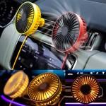 차량용 LED 써큘레이터 송풍구형 선풍기 에어컨바람 LED조명 카팬
