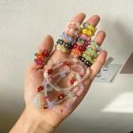 비즈 구슬 꽃 플라워 컬러 삐삐 반지 팔찌 목걸이 컬렉션