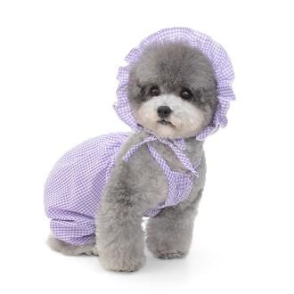 체크나시 올인원 애견 의류 강아지옷