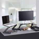 [퀵도매] 노트북거치대/노트북테이블 노트북 받침대 각도조절독서대 침대노트북거치대 눕서대