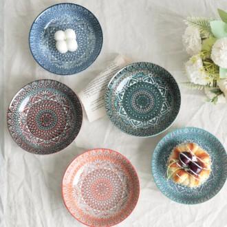 데일리 독특한 디자인 앞접시 라비앙로즈 그릇 원형접시/파티접시