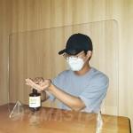 1인용 비말차단 투명 칸막이 방역가림막 식당 상담실