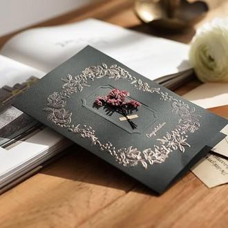 프리저브드 플라워 기프트 선물 포장 카드