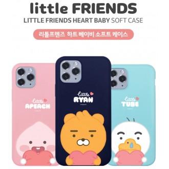 카카오 리틀프렌즈 하트베이비 소프트 정품 아이폰 갤럭시 케이스 ty