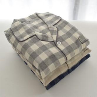 [이거찜] 순면 피치기모 수면 잠옷세트/커플 체크무늬 잠옷