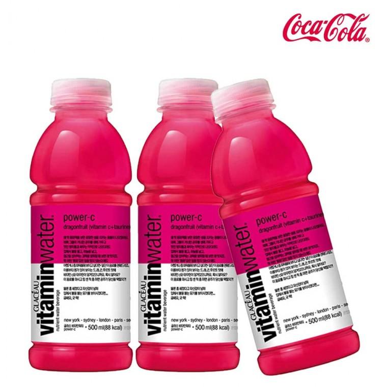 D 글라소 비타민워터 파워씨 500ml X 6개 비타민워터 에너지드링크 편의점음료 비타파워 음료도매