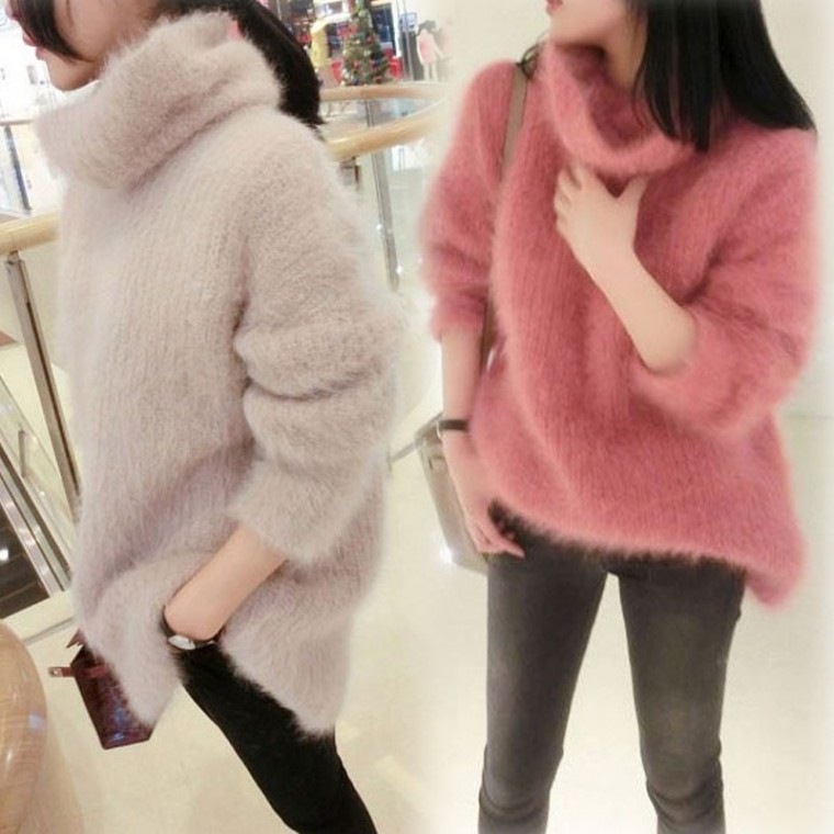 D [CESS] 1382 뽀숑 터틀넥 스웨터 2색상