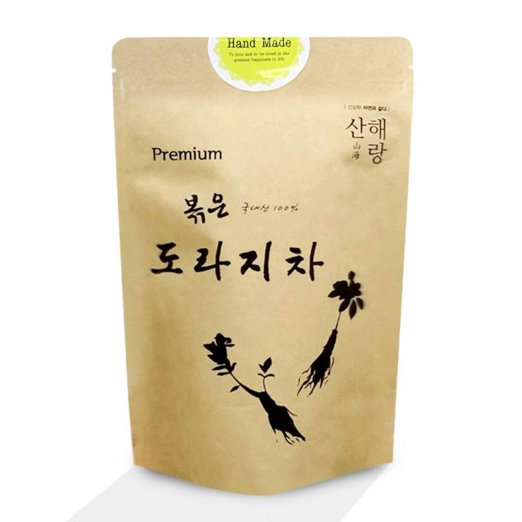 D 산해랑 볶은 도라지차(국내산) 구수한 맛 도라지 특유의 맛과 향 씁슬 쌉사름한 맛