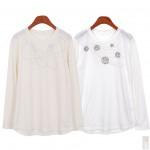 [범진통상] 핫피스 포인트 긴팔 티셔츠 2종 (55-88) 21-T008