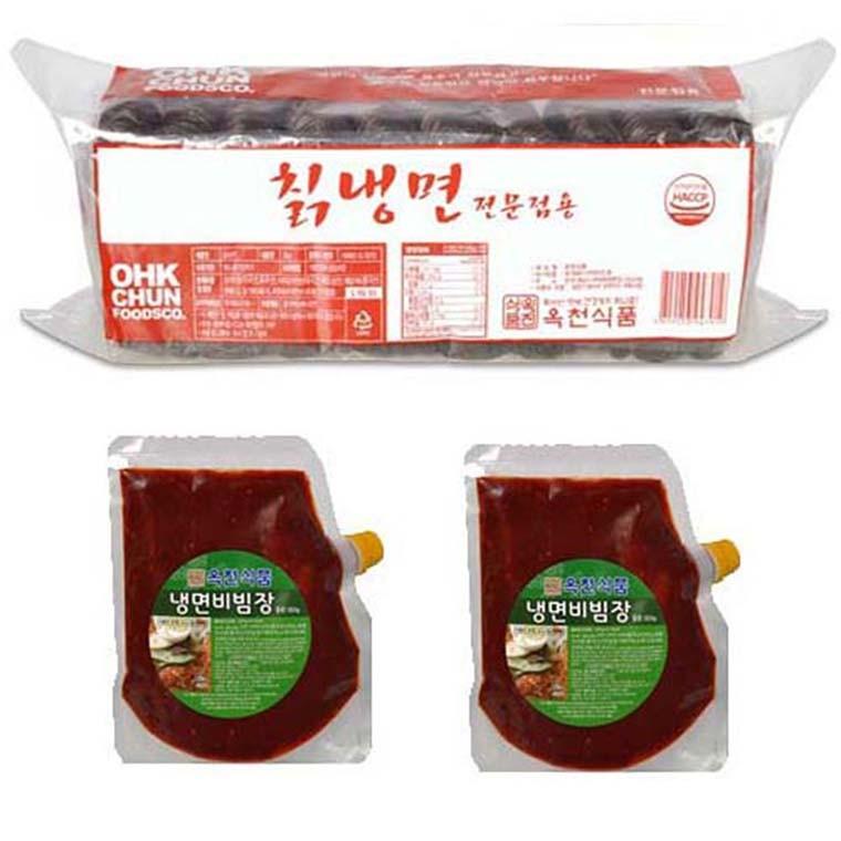 D 옥천 칡냉면 비빔SET (냉면2kg+비빔장1kg) 10인분