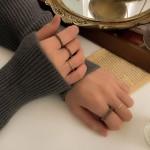 빈티지 마블 호마이카 반지 세트