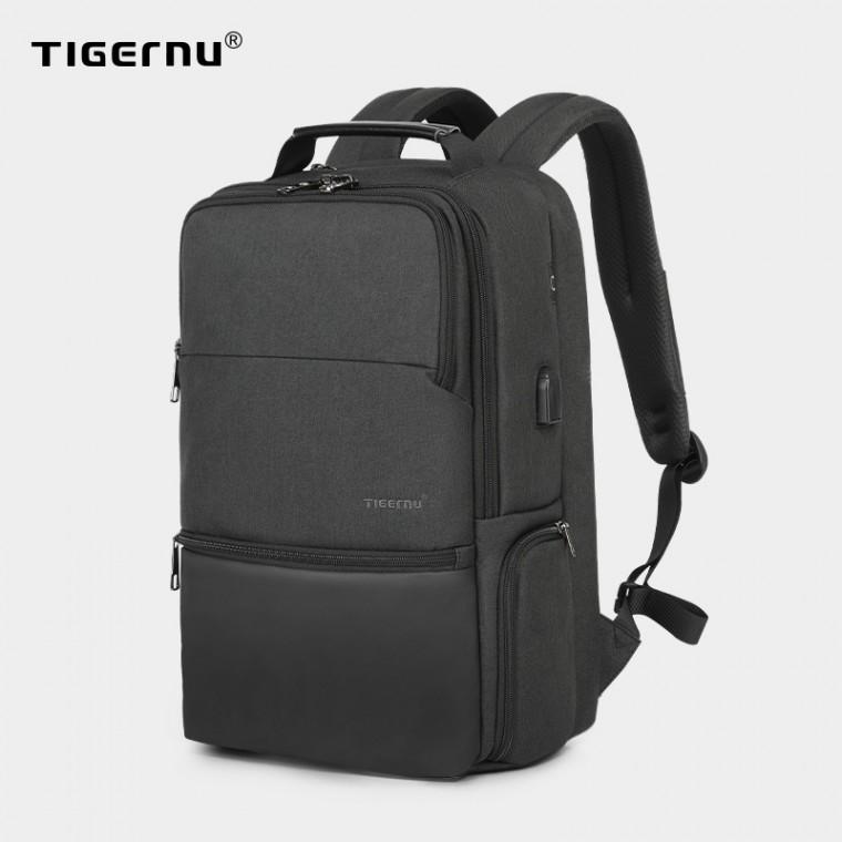 [해외]D TIGERNU 남성 비즈니스 전용가방 신축가능 대용량 백팩 출장 여행 추천가방 USB충전