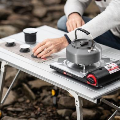 [해외]D HOMFUL 접이식 테이블 휴대용 알루미늄 합금 테이블