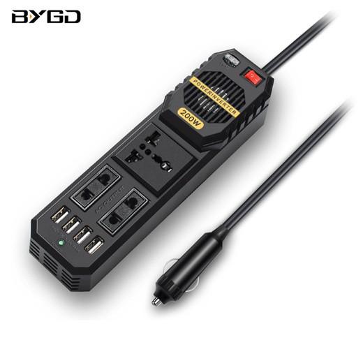 [해외]D BYGD 200W 미니 차량용인버터 자동차 인버터 시가잭변압기노트북 핸드폰 충전기