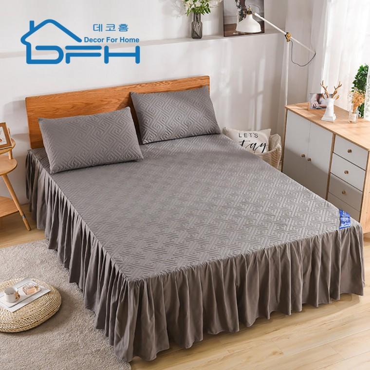 [해외]D DFH 누빔 침대스커트 매트리스커버