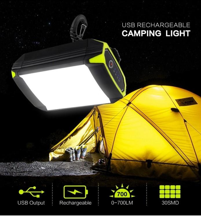 [해외]D 충전식 LED 캠핑 조명등 랜턴 텐트조명 밝기 조절 응급플래시