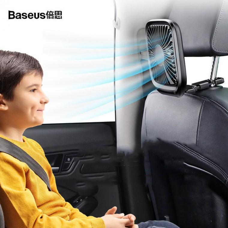[해외]D BASEUS 차량용 미니선풍기 뒷좌석 선풍기 탁상선풍기 3단풍량