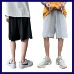 커팅 밑단자름 반바지 허리끈 배딩바지 편한바지 남자 면반바지 면바지 남성면여름바지 여름팬츠 무릎