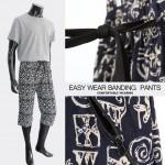 [범진통상] 남성 7부 패턴 지퍼포켓 까실이 바지 작업복 배기바지 21-PT028