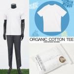 [범진통상] 오가닉 면 화이트 티셔츠 2종 세트 (M-XL) 21-RH017