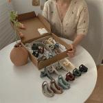 헤어 집게핀 한판 세트 컬렉션 (크라프트 박스 포장)