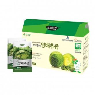 [초록한입] 국내산 유기농 생생 브로콜리양배추즙 110ml * 21포