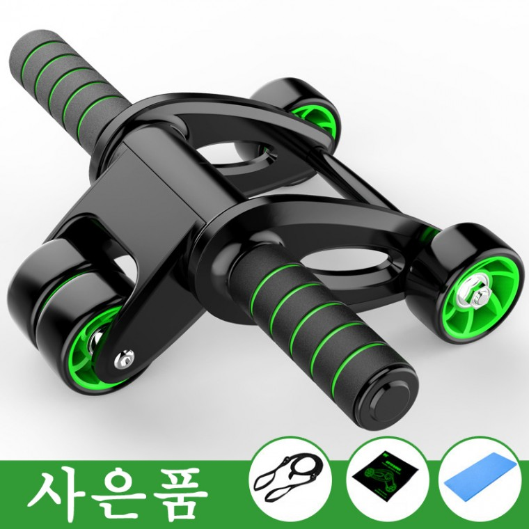 [해외]D 접이식 슬라이드 풀세트 4바퀴 AB슬라이드 복근운동기