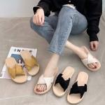 [앙상블] 꼬임 고무 슬리퍼 여름 여성 사무실 실내화 실외 샌들 신발