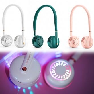 두손이 자유로운 LED 접이식 목걸이 휴대용 핸디 미니 USB 넥선풍기 넥풍기 넥밴드 선풍기