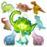 공룡은박풍선5종세트+미니공룡서비스 공룡풍선 아이들 생일파티 공룡숲을 만들어보세요 작은 미니공룡1마리