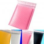 안전봉투 15 x 20 + 4cm 에어캡 택배 봉투 / 무광 화이트 핑크 블랙 옐로우