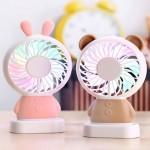 [당일발송]KC인증 휴대용 곰돌이토끼 USB 미니 LED선풍기 넥밴드 판촉 캠핑 차량용 스트랩 쿨 넥풍기