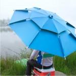 2중파라솔/대형파라솔/레저/낚시/캠핑/야외활동/자외선차단/2중 팔각 대형 파라솔